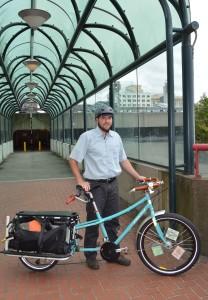 Matt with his bike